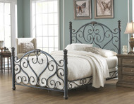 Fashion Bed Group Duchess Bed in Cerulean Marble