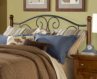 Fashion Bed Group Doral Headboard in Matte Black and Walnut