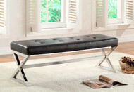 Homelegance Rory X-Base Bench Black Leather