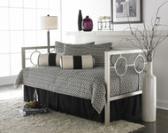 Fashion Bed Group Astoria Metal Daybed in Champagne