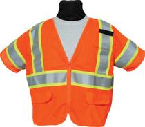 SECO 8390 Economy Safety Vest - Flo Orange or Flo Yellow
