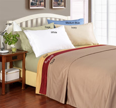 Caribe Collection   1000 Thread Count Egyptian Cotton Queen Bed Sheets