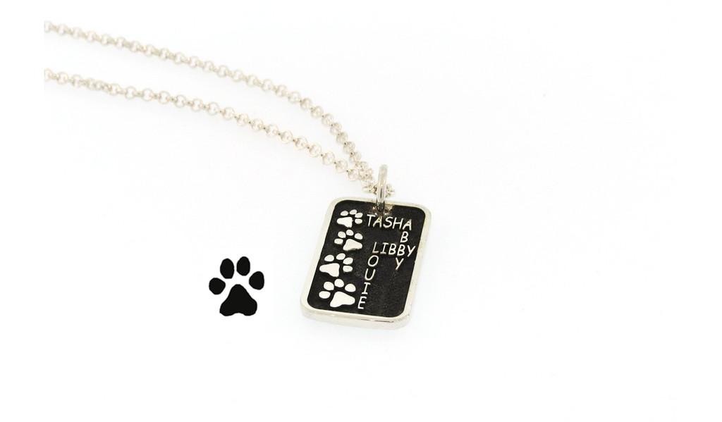 Journey Companion Tag with Custom Paw