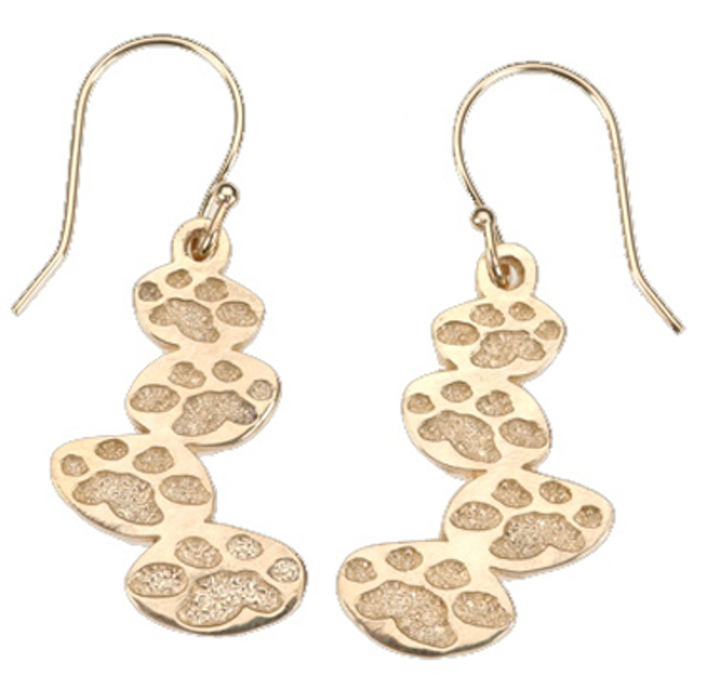 4 Paws Earrings - Journey - Gold