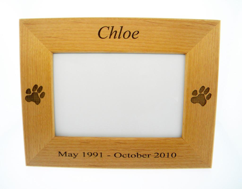 4 Paws Photo Frame - with Custom Paw Print