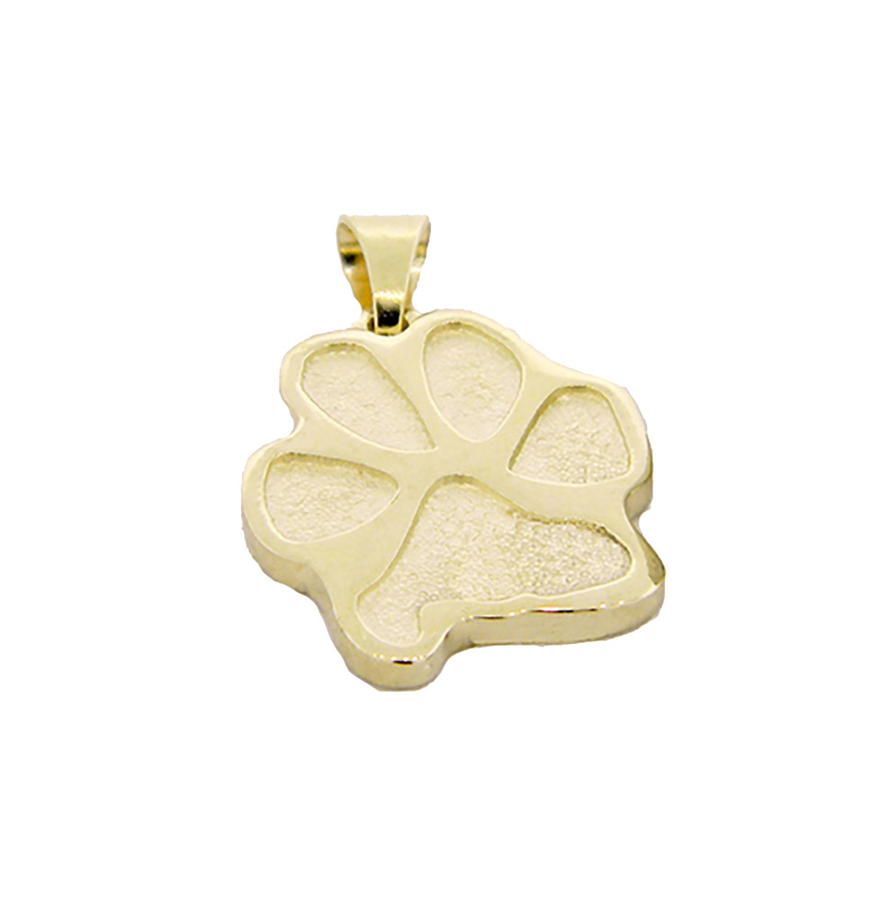 (1) Single Paw Pendant with Custom Paw - Gold