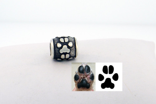 Raised Custom Paw Bead