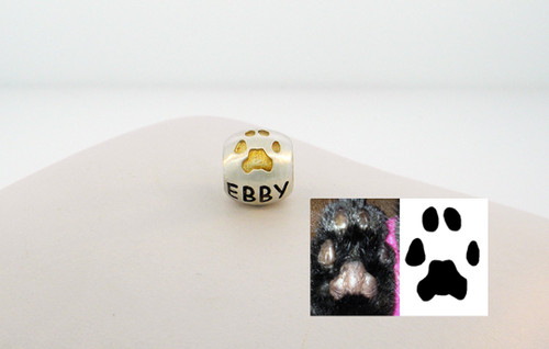 1 Custom Paw Bead