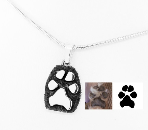 Raised Single Paw Pendant with Custom Paw