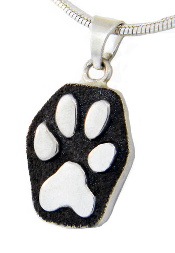 Raised Single Paw Pendant