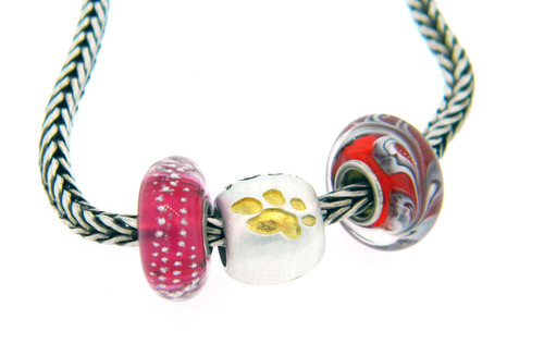 Gold Paws Bead
