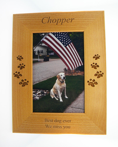 4 Paws Photo Frame - All Natural Wood