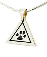 Great Paw Pendant with Recessed Details and Custom Paw