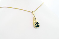 4 Paws Tear Drop Keepsake - Gold