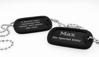 Memorial Dog Tag - Black