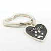 Shown on heart Key Ring
