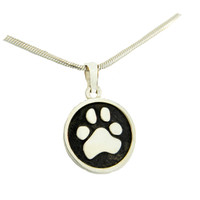 Button Pendant - Custom Paw