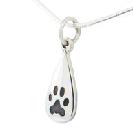 Custom Paw Tear Drop Pendant