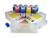 Refillable Cartridge Kit for Epson Pro 4880 with 9 x 500 ml bottles of Cave Paint Elite Enhanced pigment inks - includes both Photo & Matte Black inks and cartridges