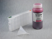 1 x Refillable Cartridge for the Epson Pro 4900 with 1 x 0.5 Liter Bottle of Cave Paint Elite Enhanced pigment ink - Vivid Magenta