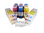 Refillable Cartridge Kit for the Epson Pro 7500 with 6 x 500 ml Bottles of i2i Absolute Match E95 pigment inks