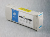 Re-manufactured 775 ml Cartridge for HP Z6100 filled with i2i Absolute Match HP91 pigment ink - Cyan