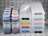 Refillable Cartridge Kit for Epson SureColor P6000, P7000, P8000, P9000 with 9 x 500 ml bottles of Cave Paint Elite HD pigment inks