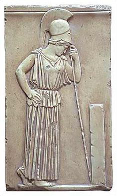 The Contemplative Athena Relief - Acropolis Museum, Athens. 460 B.C. - Photo Museum Store Company