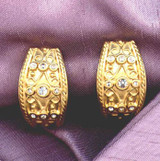 Cypriot Shield Clip Earrings - Photo Museum Store Company