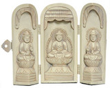 Buddha Altar in Three Parts with Hinged Panels - Photo Museum Store Company