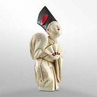 Sambaso Dancer - Japanese Netsuke - Photo Museum Store Company