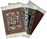 International Collection Coaster Rug Set of Four.  Four Designs. Great Gift Set - Photo Museum Store Company