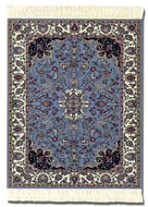 Jaipur Contemporary: Blue Group Indian Miniature Rug & Mouse Pad - Photo Museum Store Company