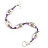 Kanji Symbol Bracelet, silver plate - Photo Museum Store Company