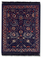 Qum Flower Miniature Rug & Mouse Pad : Blue Group - MouseRug - Photo Museum Store Company