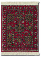 Ruby TURKISH STAR USHAK Miniature Rug & Mouse Pad: Red Group - Turkish/Indian - Photo Museum Store Company