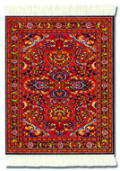 Scarlet Lilihan: Red Group - Turkish / Indian Miniature Rug & Mouse Pad - Photo Museum Store Company