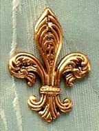 Fleur de Lys Brooch - from the collection of The South Street Seaport Museum - Photo Museum Store Company
