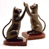 Curious Cat Bookends - Pair - Photo Museum Store Company