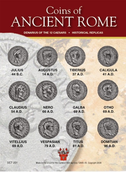 twelve caesars Among the many collections of ancient coins that can be assembled, one of the most challenging and desirable is that of the twelve caesars they can be collected in copper (and its principal alloys), silver or gold the latter is the most difficult to complete.
