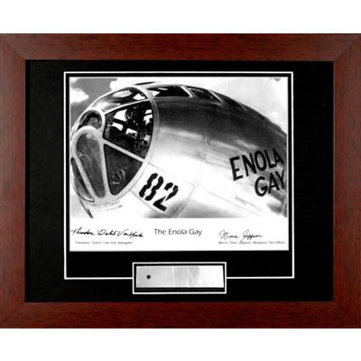 Enola Gay Nose - Autographed and Signed by Dutch VanKirk & Dick Jeppson, with Artifact, Relic - Photo Museum Store Compa