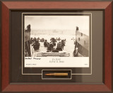 D-Day Utah Beach - Autographed and Signed by Herbert E. Moore, with Artifact, Relic - Photo Museum Store Company