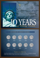 Collector's 10 Years of Liberty Nickels - Actual Authentic Collectable - Photo Museum Store Company