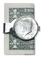Collector's JFK Half Dollar Money Clip - Actual Authentic Collectable - Photo Museum Store Company