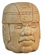 Olmec Colossal Head - La Venta, Mexico. 1000B.C. - Photo Museum Store Company