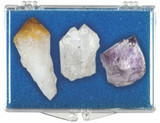 Gemstone Collection - Quartz, Amethyst & Citrine Gemstones Points - Actual Semi-Precious Gems - Photo Museum Store Compa