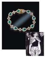Jacqueline Jackie Kennedy Collection - Emerald Drop Bracelet - Photo Museum Store Company
