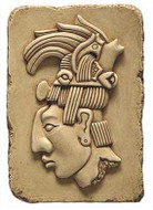 Head of Maya King Pacal  - Palenque, Mexico. 692 A.D. - Photo Museum Store Company