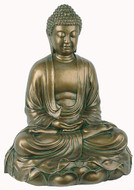 Buddha in Meditation on Lotus Sculpture - Photo Museum Store Company