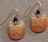 Pre-Columbian Cat Earrings - Peru, Paracas Culture 250 B.C to 125A.D. The Lowe Art Museum - Photo Museum Store Company